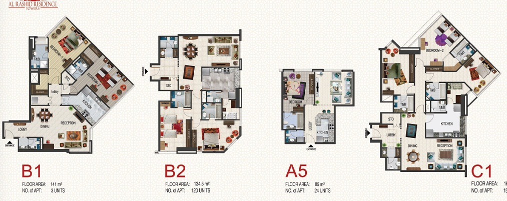 Al Rashid Residence Towers 1 Website For The Top