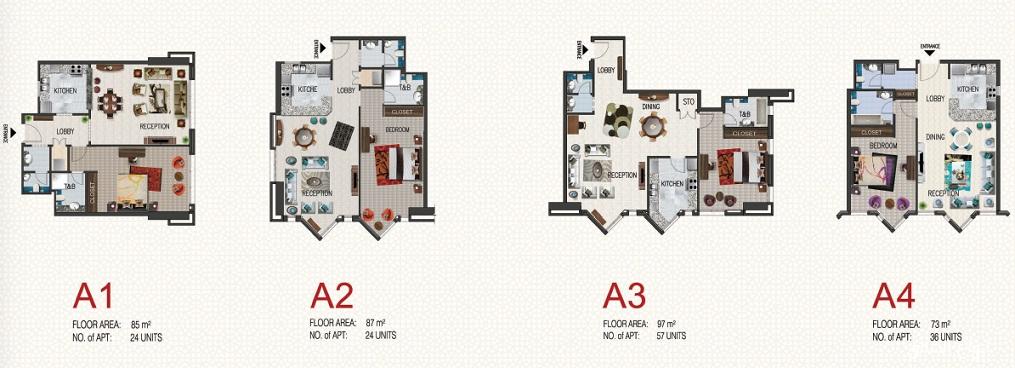 AL RASHID RESIDENCE TOWERS – Saudi Aramco Housing Floor Plans
